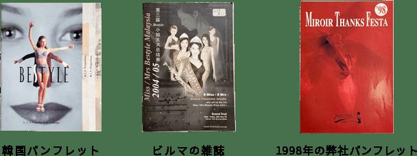 韓国パンフレット ビルマの雑誌 1998年の弊社パンフレット